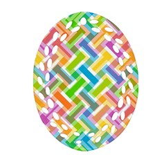 Abstract Pattern Colorful Wallpaper Background Oval Filigree Ornament (Two Sides)