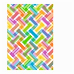 Abstract Pattern Colorful Wallpaper Background Small Garden Flag (two Sides)