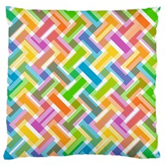 Abstract Pattern Colorful Wallpaper Background Large Cushion Case (Two Sides)