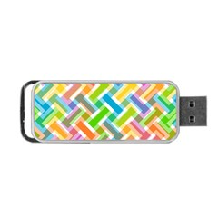 Abstract Pattern Colorful Wallpaper Background Portable USB Flash (Two Sides)