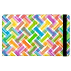 Abstract Pattern Colorful Wallpaper Background Apple iPad 3/4 Flip Case