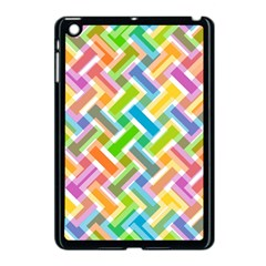 Abstract Pattern Colorful Wallpaper Background Apple iPad Mini Case (Black)