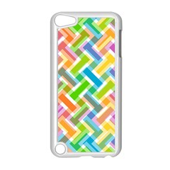 Abstract Pattern Colorful Wallpaper Background Apple iPod Touch 5 Case (White)