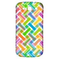Abstract Pattern Colorful Wallpaper Background Samsung Galaxy S3 S III Classic Hardshell Back Case