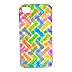 Abstract Pattern Colorful Wallpaper Background Apple iPhone 4/4S Hardshell Case with Stand