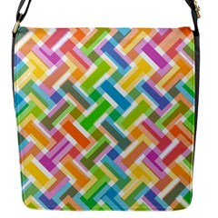Abstract Pattern Colorful Wallpaper Background Flap Messenger Bag (s)