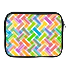 Abstract Pattern Colorful Wallpaper Background Apple iPad 2/3/4 Zipper Cases