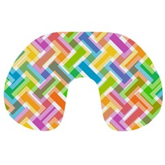Abstract Pattern Colorful Wallpaper Background Travel Neck Pillows