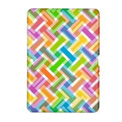 Abstract Pattern Colorful Wallpaper Background Samsung Galaxy Tab 2 (10 1 ) P5100 Hardshell Case