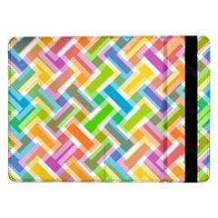 Abstract Pattern Colorful Wallpaper Background Samsung Galaxy Tab Pro 12.2  Flip Case