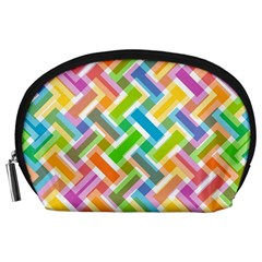 Abstract Pattern Colorful Wallpaper Background Accessory Pouches (Large)
