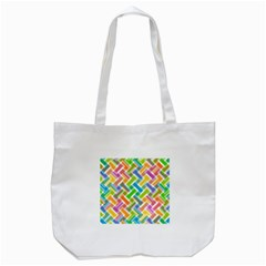 Abstract Pattern Colorful Wallpaper Background Tote Bag (White)