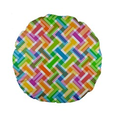 Abstract Pattern Colorful Wallpaper Background Standard 15  Premium Flano Round Cushions