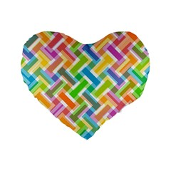 Abstract Pattern Colorful Wallpaper Background Standard 16  Premium Flano Heart Shape Cushions