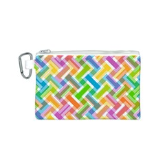 Abstract Pattern Colorful Wallpaper Background Canvas Cosmetic Bag (s)