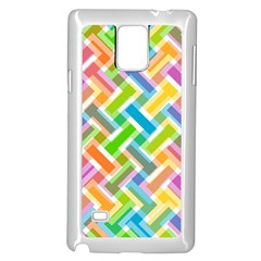Abstract Pattern Colorful Wallpaper Background Samsung Galaxy Note 4 Case (white)