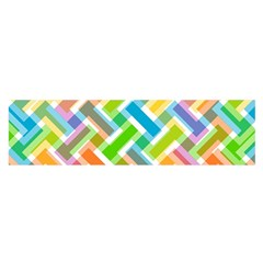 Abstract Pattern Colorful Wallpaper Background Satin Scarf (Oblong)