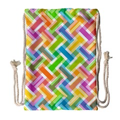 Abstract Pattern Colorful Wallpaper Background Drawstring Bag (large)