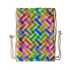 Abstract Pattern Colorful Wallpaper Background Drawstring Bag (small)