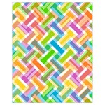 Abstract Pattern Colorful Wallpaper Background Drawstring Bag (Small) Back