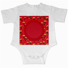Floral Roses Pattern Background Seamless Infant Creepers