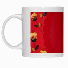 Floral Roses Pattern Background Seamless White Mugs