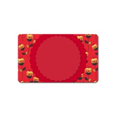Floral Roses Pattern Background Seamless Magnet (Name Card)