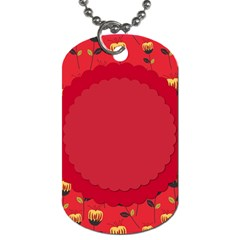 Floral Roses Pattern Background Seamless Dog Tag (one Side)