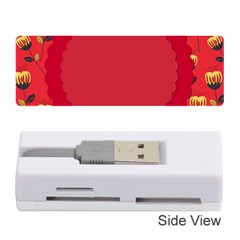 Floral Roses Pattern Background Seamless Memory Card Reader (stick)