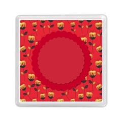 Floral Roses Pattern Background Seamless Memory Card Reader (square)