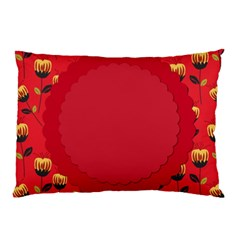 Floral Roses Pattern Background Seamless Pillow Case (Two Sides)
