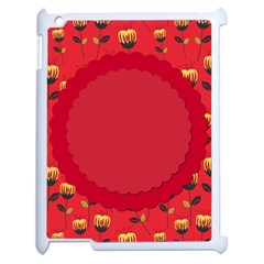 Floral Roses Pattern Background Seamless Apple iPad 2 Case (White)