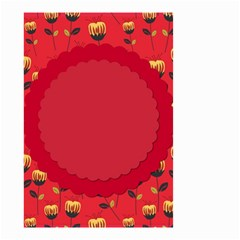 Floral Roses Pattern Background Seamless Small Garden Flag (Two Sides)
