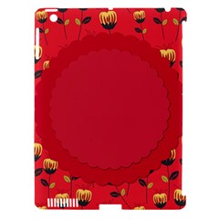 Floral Roses Pattern Background Seamless Apple Ipad 3/4 Hardshell Case (compatible With Smart Cover)
