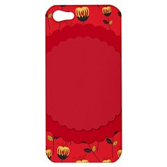 Floral Roses Pattern Background Seamless Apple iPhone 5 Hardshell Case