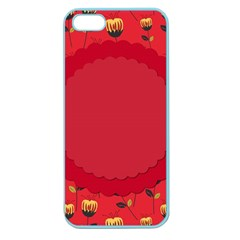 Floral Roses Pattern Background Seamless Apple Seamless iPhone 5 Case (Color)