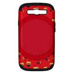 Floral Roses Pattern Background Seamless Samsung Galaxy S III Hardshell Case (PC+Silicone)