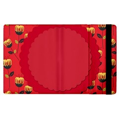 Floral Roses Pattern Background Seamless Apple iPad 2 Flip Case