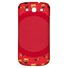 Floral Roses Pattern Background Seamless Samsung Galaxy S3 S Iii Classic Hardshell Back Case