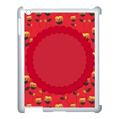 Floral Roses Pattern Background Seamless Apple Ipad 3/4 Case (white)