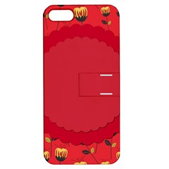 Floral Roses Pattern Background Seamless Apple iPhone 5 Hardshell Case with Stand