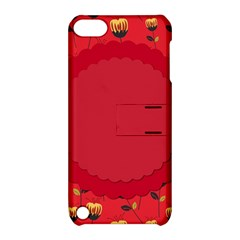 Floral Roses Pattern Background Seamless Apple iPod Touch 5 Hardshell Case with Stand
