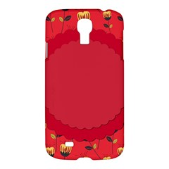 Floral Roses Pattern Background Seamless Samsung Galaxy S4 I9500/i9505 Hardshell Case