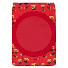 Floral Roses Pattern Background Seamless Flap Covers (L)
