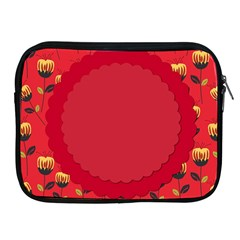 Floral Roses Pattern Background Seamless Apple iPad 2/3/4 Zipper Cases