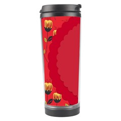 Floral Roses Pattern Background Seamless Travel Tumbler
