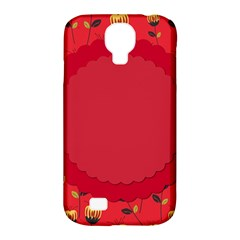 Floral Roses Pattern Background Seamless Samsung Galaxy S4 Classic Hardshell Case (PC+Silicone)