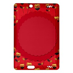 Floral Roses Pattern Background Seamless Amazon Kindle Fire HD (2013) Hardshell Case