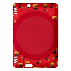Floral Roses Pattern Background Seamless Kindle Fire Hdx Hardshell Case