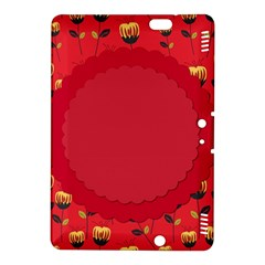 Floral Roses Pattern Background Seamless Kindle Fire HDX 8.9  Hardshell Case